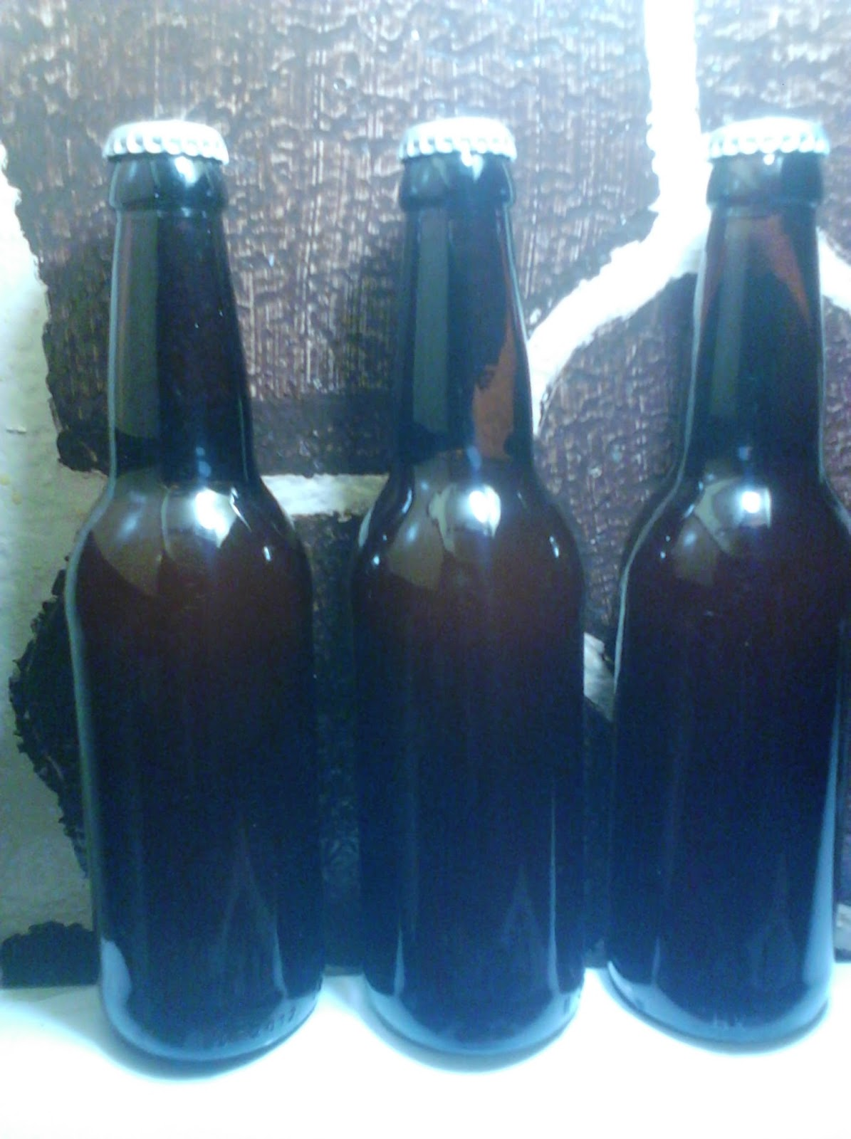 Capped bottles of my brew