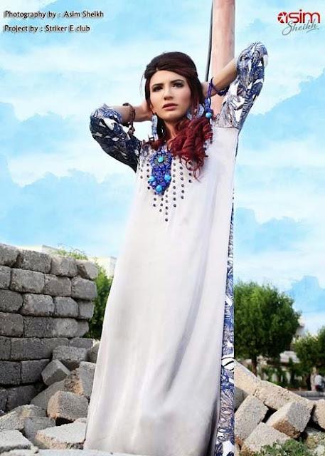Hajra Esa Winter Wear Kurti Dresses Collection 2013-14 For Girls & Women