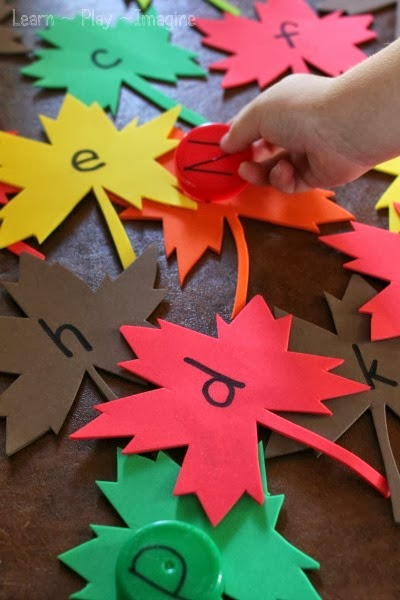 Preschool literacy activities for fall