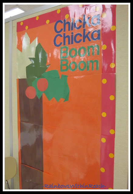 "photo of: Bulletin Board ""Wall"" for Chicka-Chicka Boom Boom"