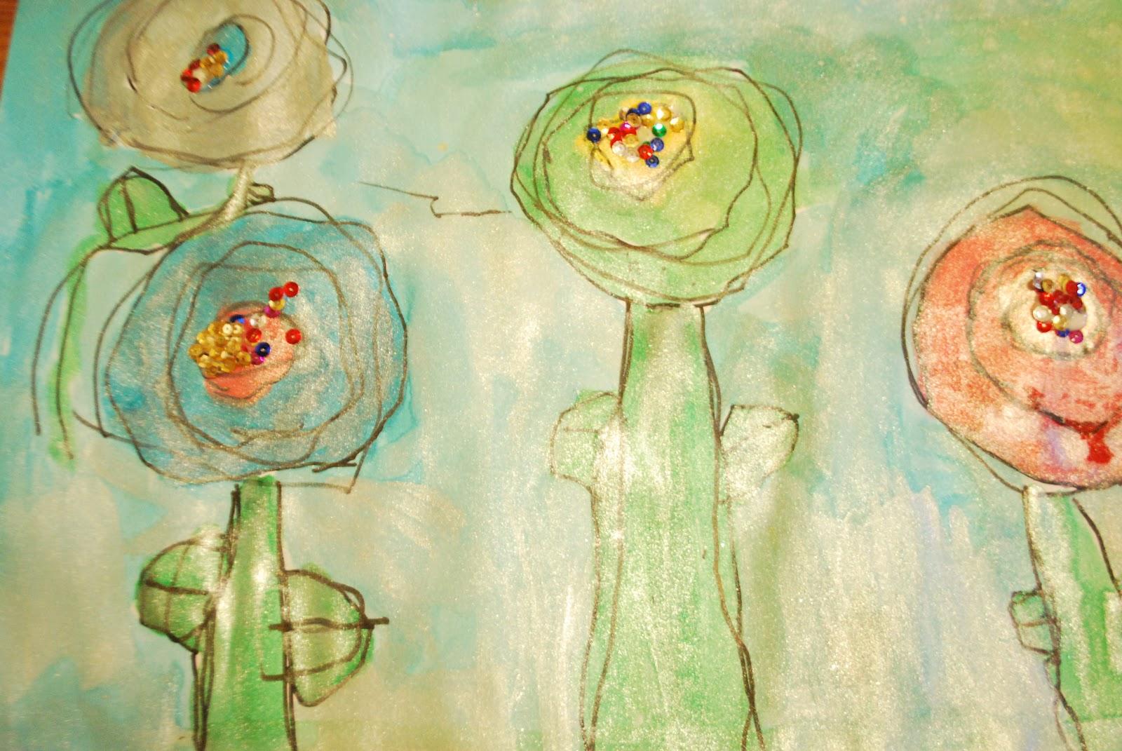 Party in the Art Room: Hundertwasser Flowers for Little Ones