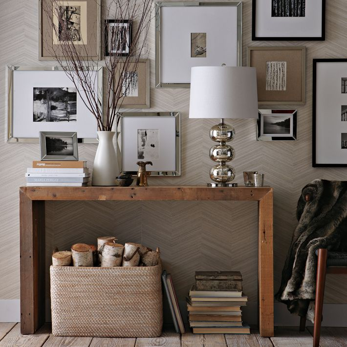 Console Table with Wall Decor