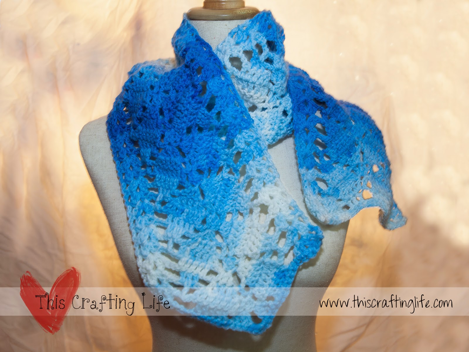 Crochet Scarf Pattern Leaf : This Crafting Life: Beautiful Leaves Crochet Scarf ...