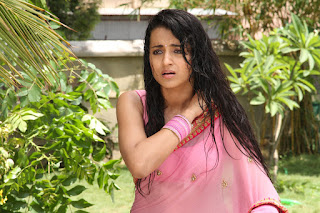 Trisha Looks Cute and Beautifull in Pink Saree from movie Klavathi Must See HQ Pics