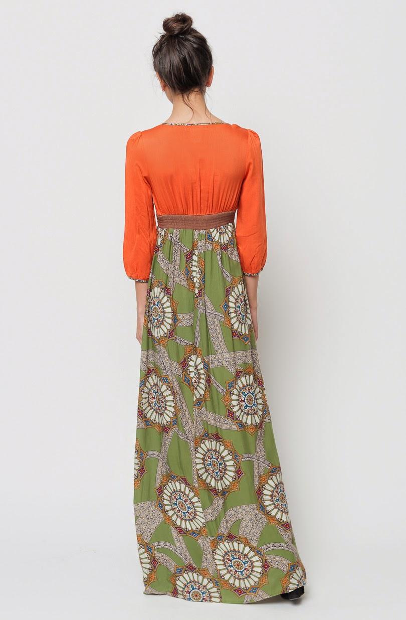 Multi color maxi dresses