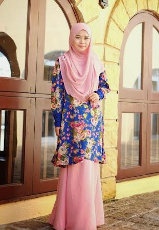 Top Flower Boleh Dipadankan Dengan Chiffon Atau Lycra Skirt Pasti Memukau Pandangan