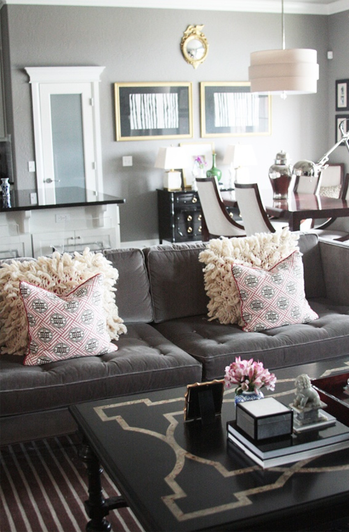 Nicole rene design weddings events home decor fashion for Living room ideas pink and grey