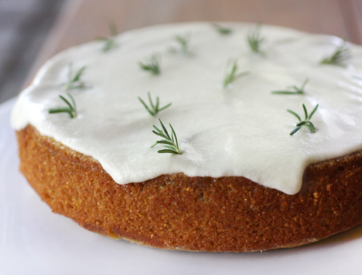... is cooking: Almond Rosemary Cake with Lemon and Creme Fraiche Glaze