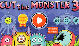 Cut the Monster 3 awesome puzzle shooting online games free
