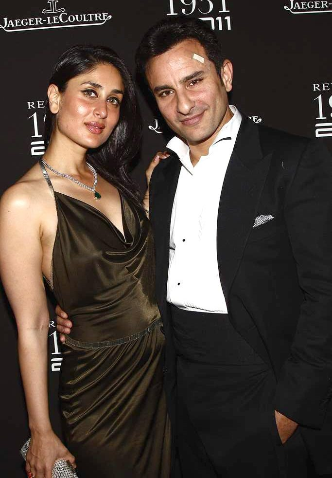 Saif Ali Khan and Kareena Kapoor at Jaeger-LeColutre anniversary bash