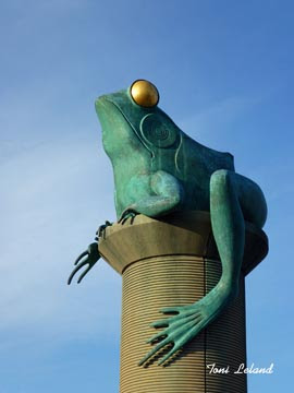 Detail from the Frog Bridge in Willimantic, Connecticut by Toni Leland