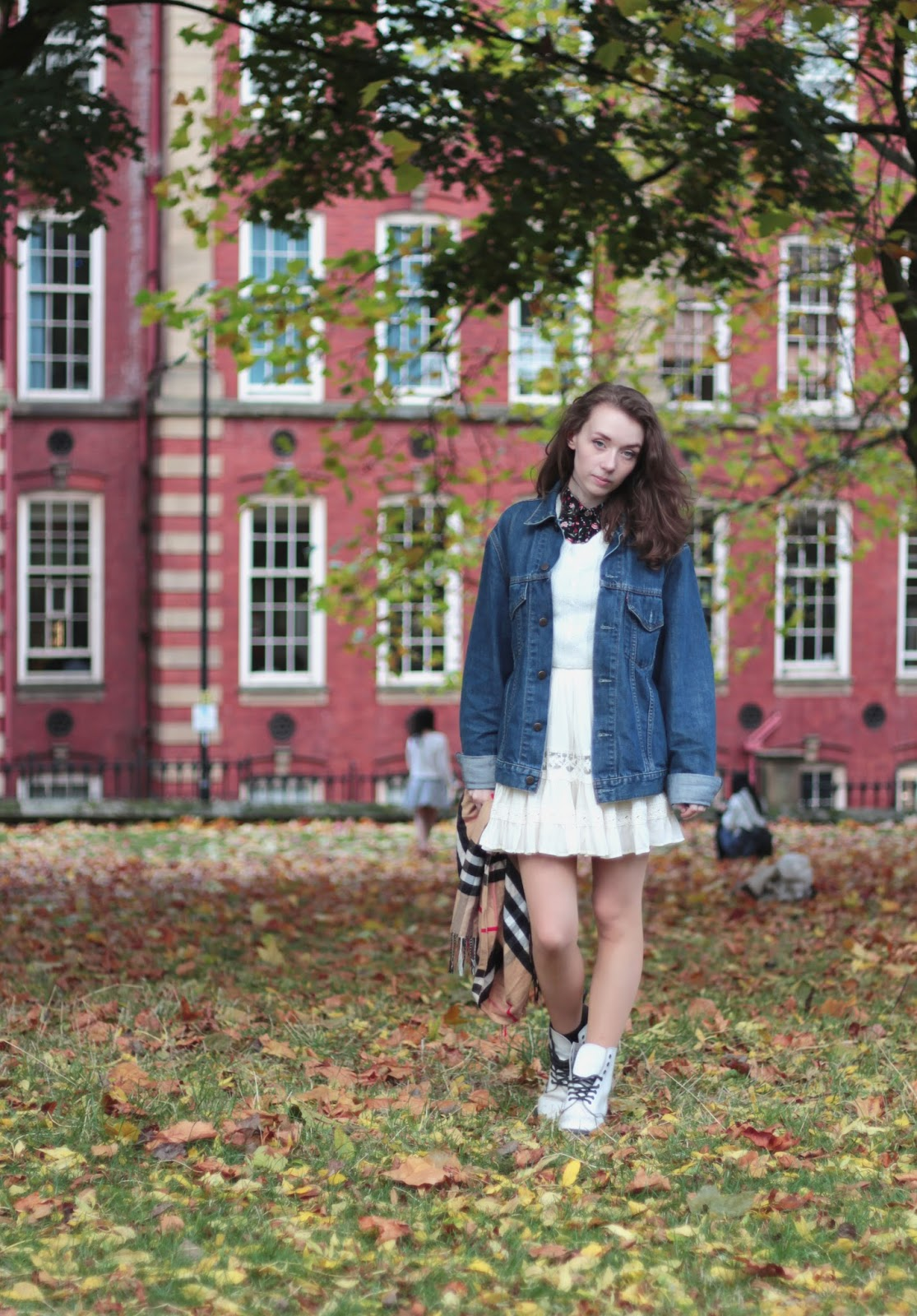 all white winter outfit featuring We are Cow, missguided, forever21 and dr martens