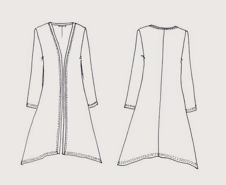 New Megan Longline Cardigan Pattern Sew Tessuti Bloglovin