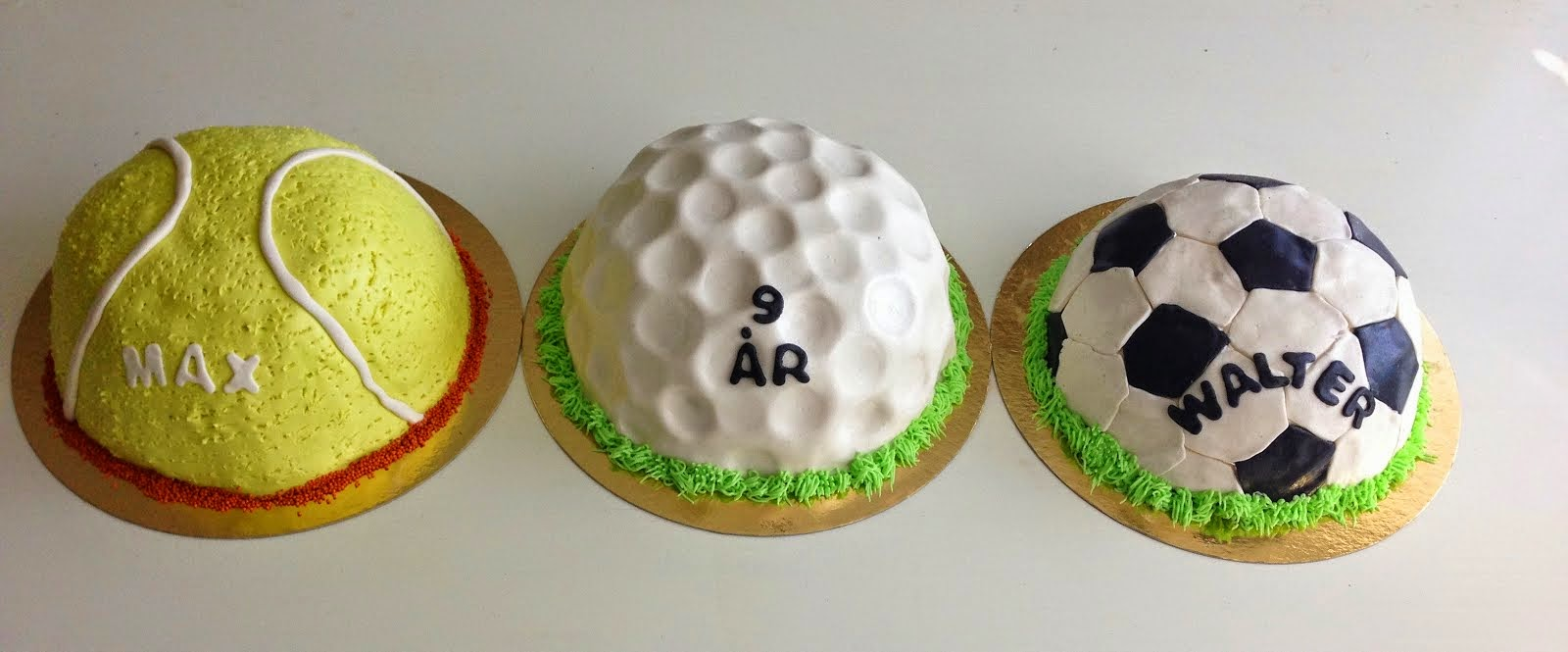 Bolltårtor , fotboll , tennis och golf