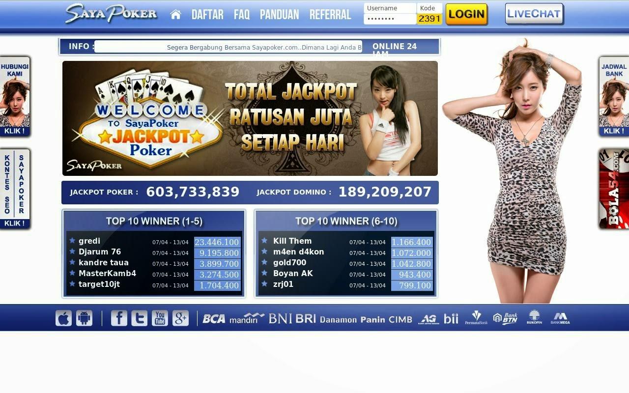 SayaPoker.com Agen Judi Poker dan Domino Online Terpercaya Indonesia