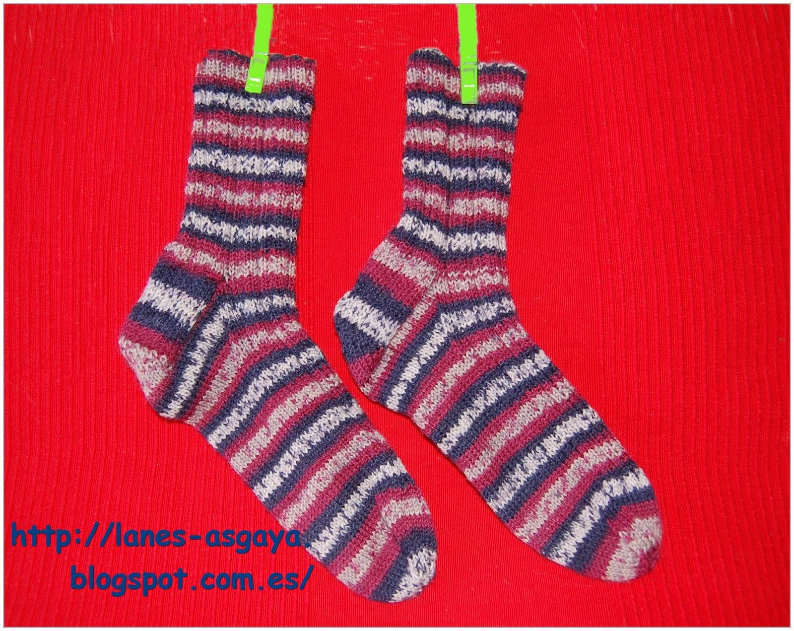 Lanes asgaya calcetines con aguja circular - Como hacer calcetines de lana ...