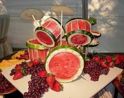 Drum Set Watermelon Carving by Food Stylin with David Leathers.