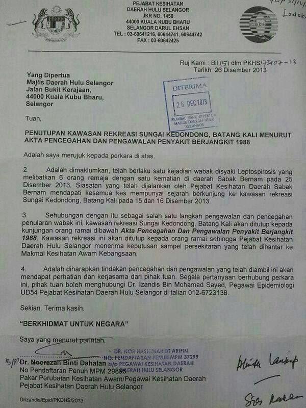 Wabak Leptospirosis : 6 Dijangkiti 1 Maut Di Selangor!