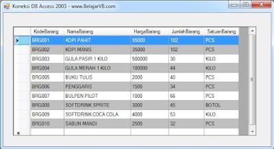Cara Koneksi Database Access 2003 (mdb) Pada VB .Net 2012