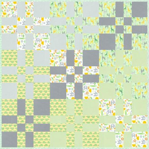 Free pattern! Four patch flip