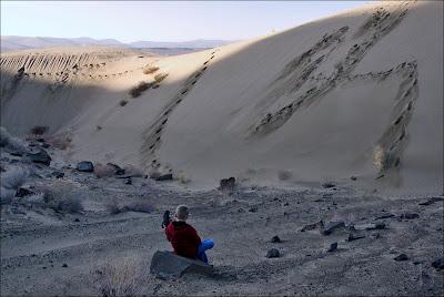 Columbia River sand dunes.