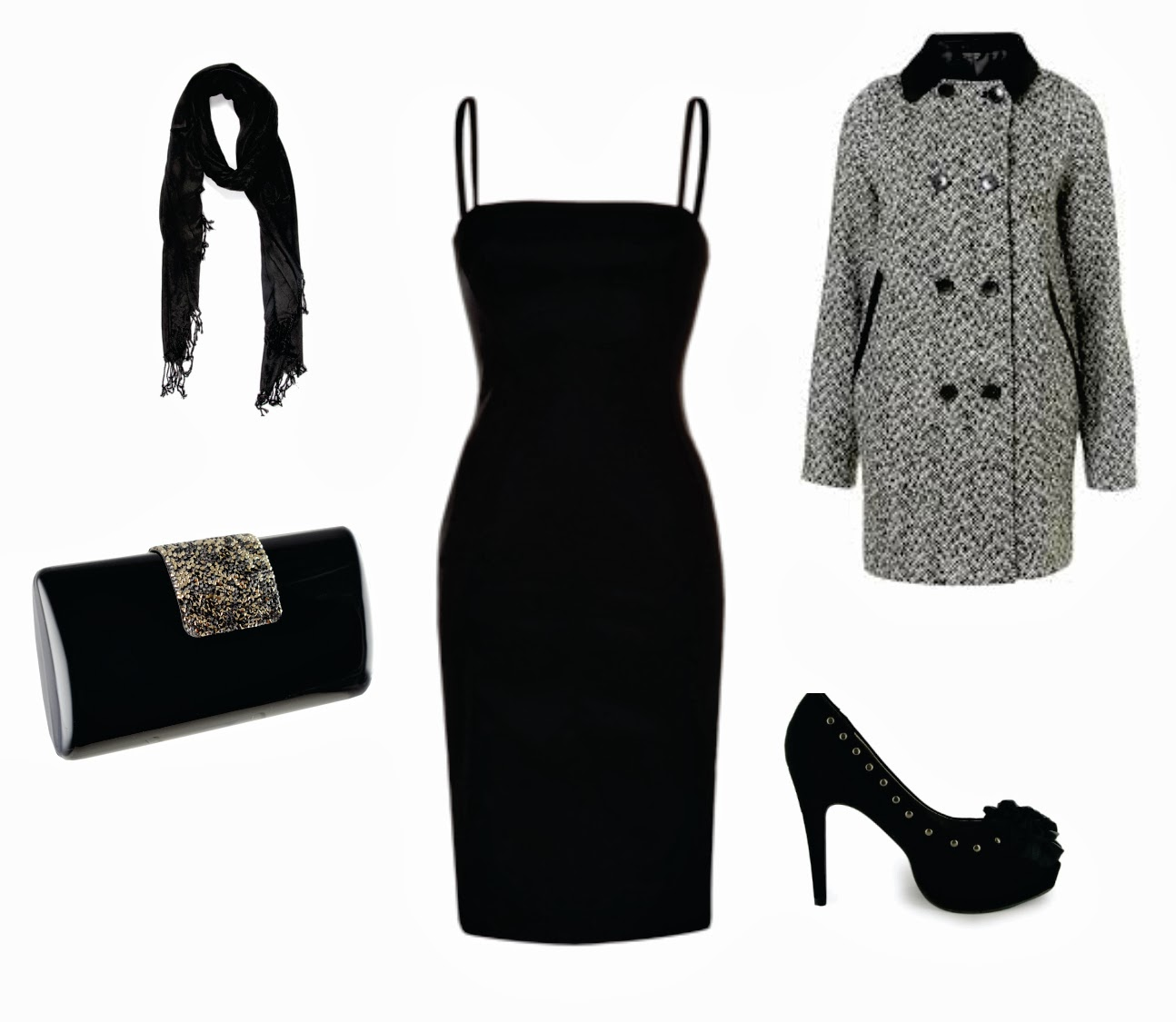VESTIDO NEGRO 5 OUTFITS | Looking your Style
