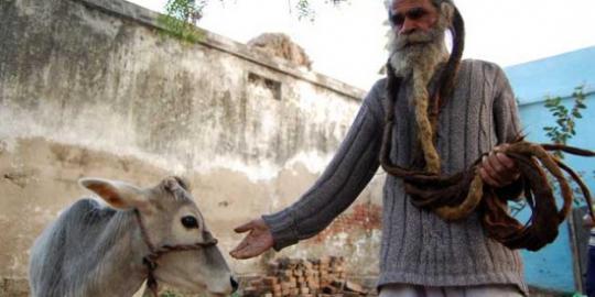 Pria Paling Bau Sedunia, Tak Mandi 38 Tahun