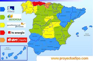 Mapa Eléctrico Español