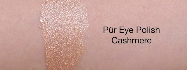 Pur Minerals eye polish cashmere review eyeshadow