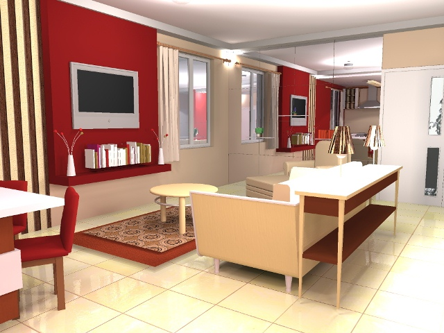 Interior design for living room for middle class living for Bedroom designs middle class
