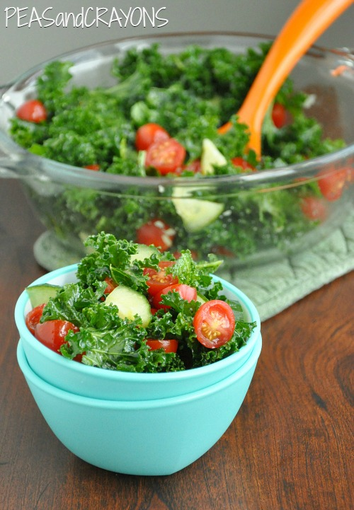 Garlicky Kale Salad with Smoky Chipotle Dressing