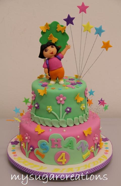 Cake Designs For 4 Year Girl : My Sugar Creations (001943746-M): Dora Cake - Ishani