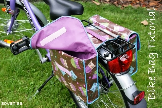 double bike bag sewing tutorial