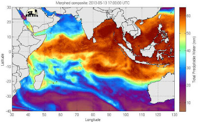 TORMENTA TROPICAL MAHASEN 01B - mapa AGUA TOTAL PRECIPITABLE