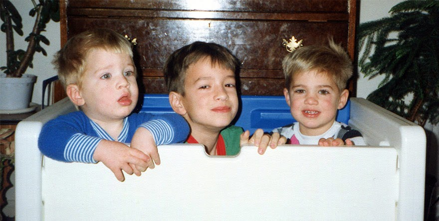 brothers recreate childhood snaps christmas calendar gift-7