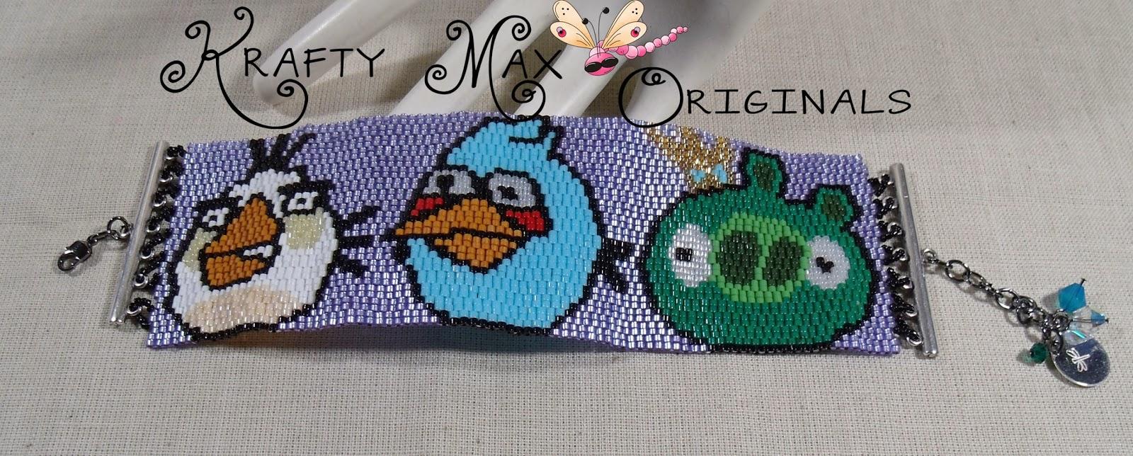 http://www.artfire.com/ext/shop/product_view/KraftyMax/8001727/angry_birds_-_green_pig_blue_bird_and_white_bird_beadwoven_bracelet_/handmade/jewelry/bracelets/beadwork