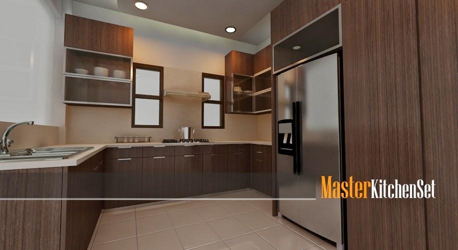 Kitchen set solo gallery blog master coklat 1a