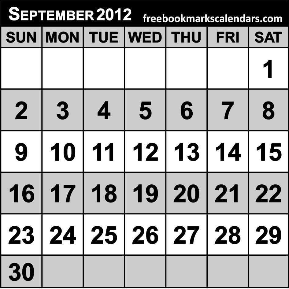 2012 Calendar Printable