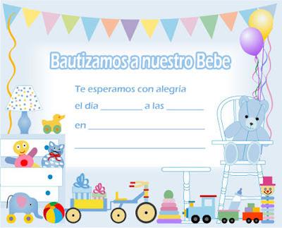 EL RINCÓN DE LOS PEQUES: INVITACIONES PARA BAUTIZO