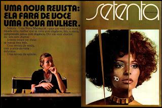 propaganda revista  Setenta - 1970; os anos 70; brazil in the 70s; reclame anos 70; Oswaldo Hernandez;