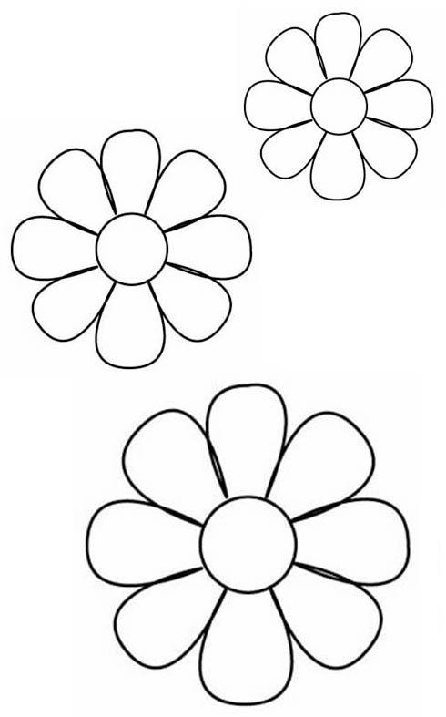Flores goma eva plantillas - Imagui
