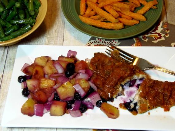Mahi-Mahi With Pineapple And Blueberries Recipe
