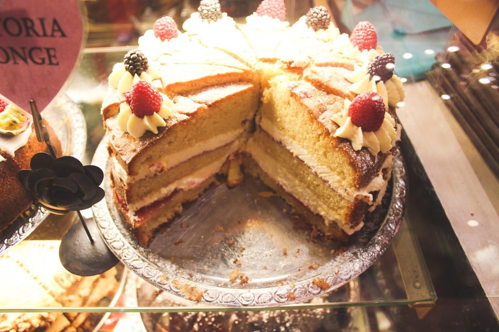 Cake Richmonds Tea rooms Manchester