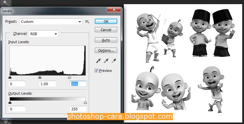 aturlah foto dengan level. cara nya klik ctrl+L bersamaan di ...
