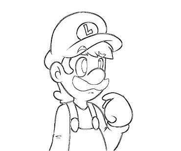 #13 Luigi Coloring Page