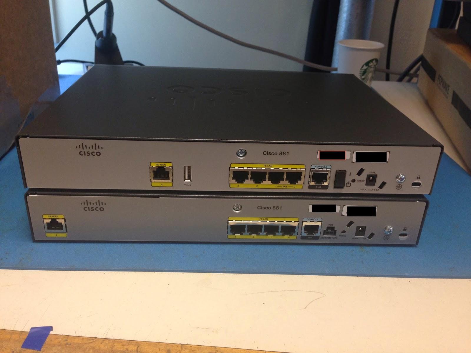 Fragmentation Needed: Cisco 881 or Cisco 881?