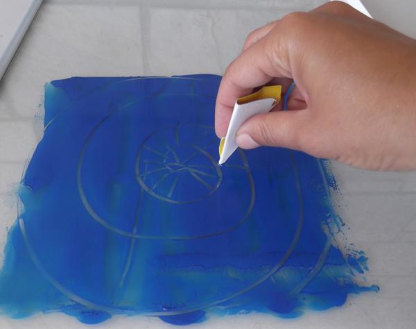 negative monoprinting, fabric negative printing, fabric printing