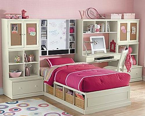dormitorios con muebles blancos para nias ideas decoracin - Muebles Nina