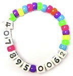 Mom Hack: Kids Cell Phone Number Bracelets