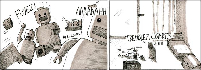 Daryl terrorisant le peuple Lego